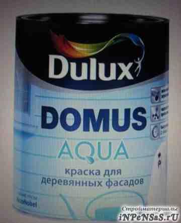 Краска для деревянных фасадов Dulux Domus Agua