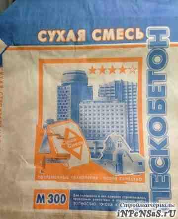 Пескобетон м-300, Сухая смесь (50кг)