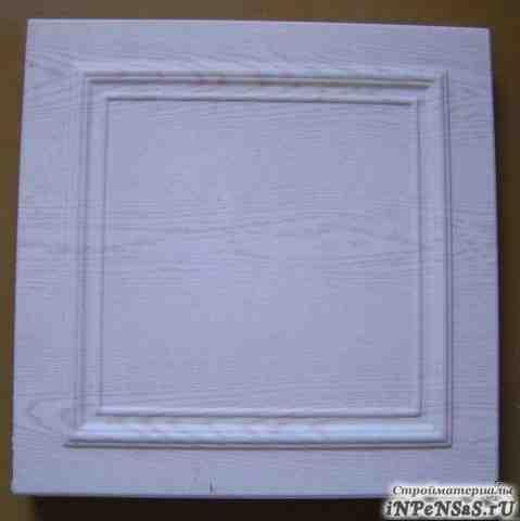 Плиты потолочные белые с рисунком, тиснённые