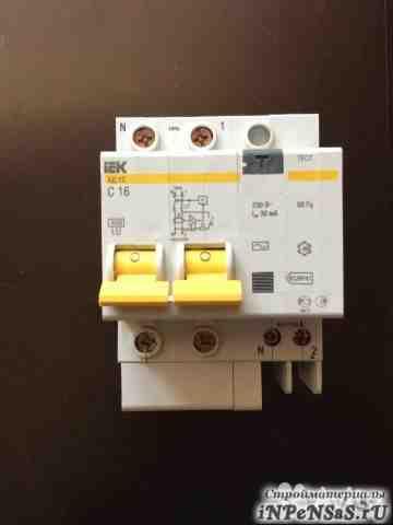 IEK дифференциальный автомат ад-12 16А