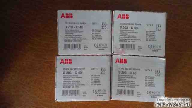 Автомат ABB 3 полюсный