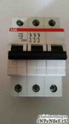 Автомат ABB s 203 c 63