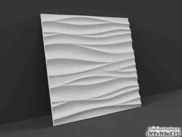 3-Д гипсовые панели