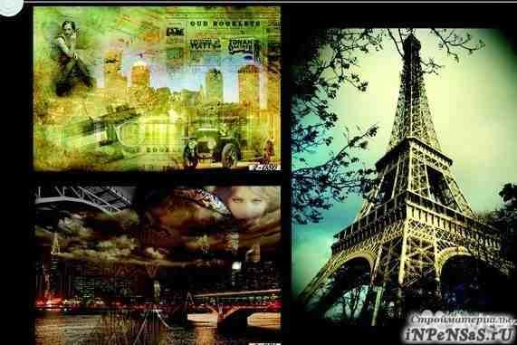 Флизелиновые фотообои Париж