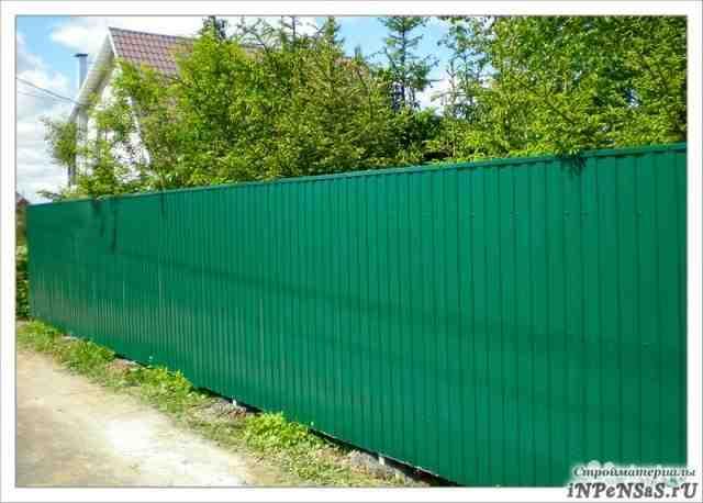 Забор из профнастила и сетки. Цены 2014 года