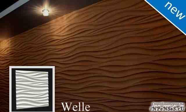Трехмерные гипсовые панели - современный дизайн