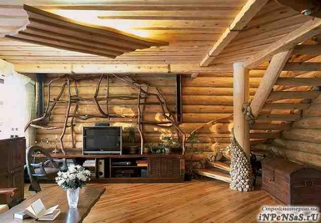 Деревянный оцилиндрованный дом