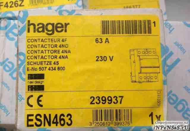 Hager контактор ESN463 4ф