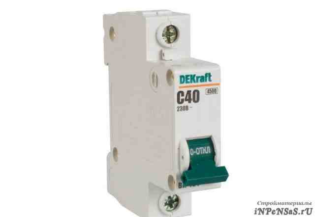 Автоматический выключатель 1Р 16А С Dekraft