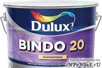 Краска для стен dulux bindo 20